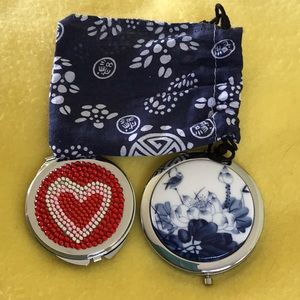 Other - 2 compact mirrors with pouch